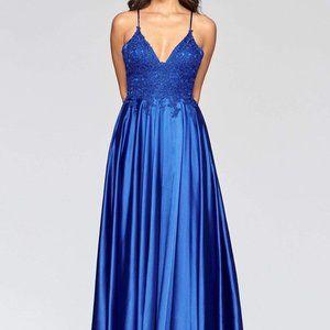 Faviana - Ornate Lace Bodice A-Line Gown S10400
